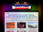 Coney Fair Amusements Brisbane amusement rides, carnival rides, catering, marquees and fireworks