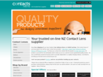 Contact lenses online - NZ's trusted source for cheap contact lenses. Free delivery NZ wide.