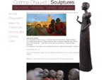 Corinne Chauvet - Sculpture - Terre, ceramique Albi - terres sereines, moines bouddhistes à Mazame