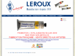 Couleurs Leroux depuis 1910, peinture à l039;huile, fabricant, qualité très haute gamme