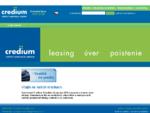 Credium – úvery, leasing, poistenie