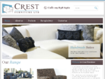 Crest Furniture Quality Hand Made Custom Designed Upholstered Furniture, Sofas, Nursing Chairs, B