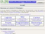 CR-TEKnologies informatique, electronique, programmation, logiciels