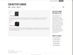 CSB Battery Canada