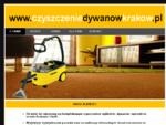 Czyszczenie dywanów i wykładzin - Kraków, czyszczenie tapicerki samochodowej - Kraków