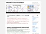 Matematik Noter og opgaver | (c) Henrik Dagsberg, Vejle. Indholdet beskyttet af dansk lov om ..