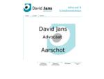 David Jans, Advocaat en schuldbemiddelaar in Aarschot