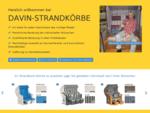DAVIN STRANDKOERBE. DE Verkauf und Vermietung von Strandkoerben in Nordhessen.