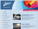 DECO Grafica - Grafica adesiva, studio grafico, decorazioni adesive, scritte adesive, loghi ades