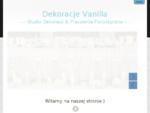 Dekoracje ślubne oraz sal weselnych, Kwiaciarnia Kielce Dekoracja Vanilla