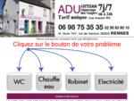 Plombier électricien RENNES, ADU entreprise artisan de dépannage des usagers en plomberie et ...