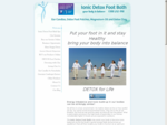 Ionic Detox Foot Bath Systems and Detox Foot Patches Australia