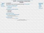 DGPS - Acoustique Industrielle Accueil DGPS