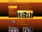 MUSIC 4 U - Die Partymusik | Mobildiskothek Hochzeit Geburtstag Potsdam Berlin