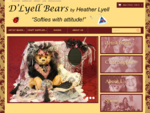 D'Lyell Bears, New Zealand crafted collector teddy bears, The Monty Series, Yesteryear, Kitsets,