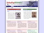 Do You Play Mathematics - Articoli di divulgazione della matematica e mostre di matematica.