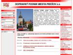 DPMP a. s. - Dopravný podnik mesta Prešov