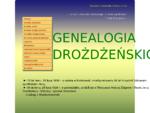 Genealogia Drożdżeńskich - Strona główna