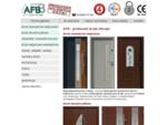 Producent drzwi zewnętrznych oferuje drewniane wejściowe drzwi do domuów.