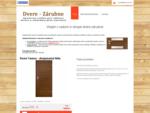 DVERE ZARUBNE – drevené, laminátové, fóliované, interiérové, exteriérové, obložkové, lacné.