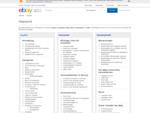 Die eBay-Website ist in fünf Bereiche unterteilt Kaufen, Verkaufen, Mein eBay, Gemeinschaft and H