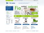 Bankové účty, investície, akcie, komodity, | Fio Banka
