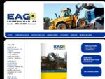 EAG Entreprenad AB - Start - Hjullastare, Kranbilar, Lastbilar, Dumpers, Bandschaktare, Väghyve