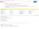 Die eBay-Website ist in fünf Bereiche unterteilt Kaufen, Verkaufen, Mein eBay, Gemeinschaft an