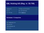 EBL Holding AS - EBL Totalleverance AS–EBL Agro AS –EBL Invest AS–EBL UK Ltd. –Hotel Lautr