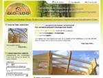 | | Constructions de bois à proximité de Bordeaux. | | ECO-LOG - Maison bois massif en kit biocli