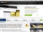 Zlato jako spoření nebo investice, investiční zlato, slitky, mince.