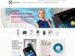 Electrolux - Informácie o výrobkoch, katalógy, návody k spotrebičom. Zákaznícke centrum. Stránky