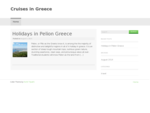 Cruises Greece Pelion Elisabet Cruises Evia Sporades Islands Cruise