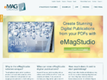Easily convert PDF to page flip online with eMagCreator or add rich media with the eMagStudio digita