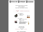 Ecole de musique moderne de Grenoble | instruments de musique