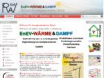 ROWA-Soft GmbH - EnEV Programmpaket Wärmeschutznachweis Dampfdiffusionsberechnung, sowie ...