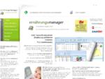 Ernährungssoftware Ernährungstagebuch ernährungsmanager 2011 Diät Software
