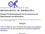 Estágios Profissionalizantes da Licenciatura em Informática - FCUL