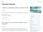 Recommend festivals in Florence