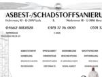 Asbest-Schadstoffsanierung Wernicke DER UMWELT ZULIEBE FACHGERECHT SANIEREN