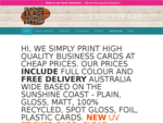 SUNSHINE COAST BUSINESS CARDS | Ph 1300 759 648