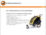 Fahrradanhänger, Kinderanhänger - Tipps und günstige Bezugsquellen