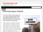 Annonseringens historik | Fannonser. se