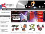 e-sklep KARBA narzędzia i maszyny do obróbki metalu oraz drewna, warszta garaż, oświetlenie, pneu