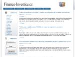Finance-Investice. cz | Spoření, fondy, akcie, komodity, forex, peníze, důchod.