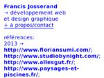 Francis Josserand → développement web et design graphique