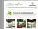 • • Exklusive Gartentore, Gartenbänke, weiß - 25 Jahre Garantie !