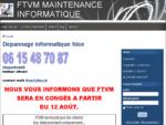 Depannage informatique Nice pas cher, 30 EUROS - FTVM Maintenance informatique