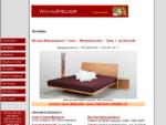 Betten Massivholzbetten, Tatami Matten, Japanische Betten, Naturdecken und Kissen