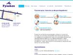 Fysikaalinen hoito, fysioterapia, kuntoutus, hieronta, fysioterapiaryhmat - Terapiakeskus Fysako
